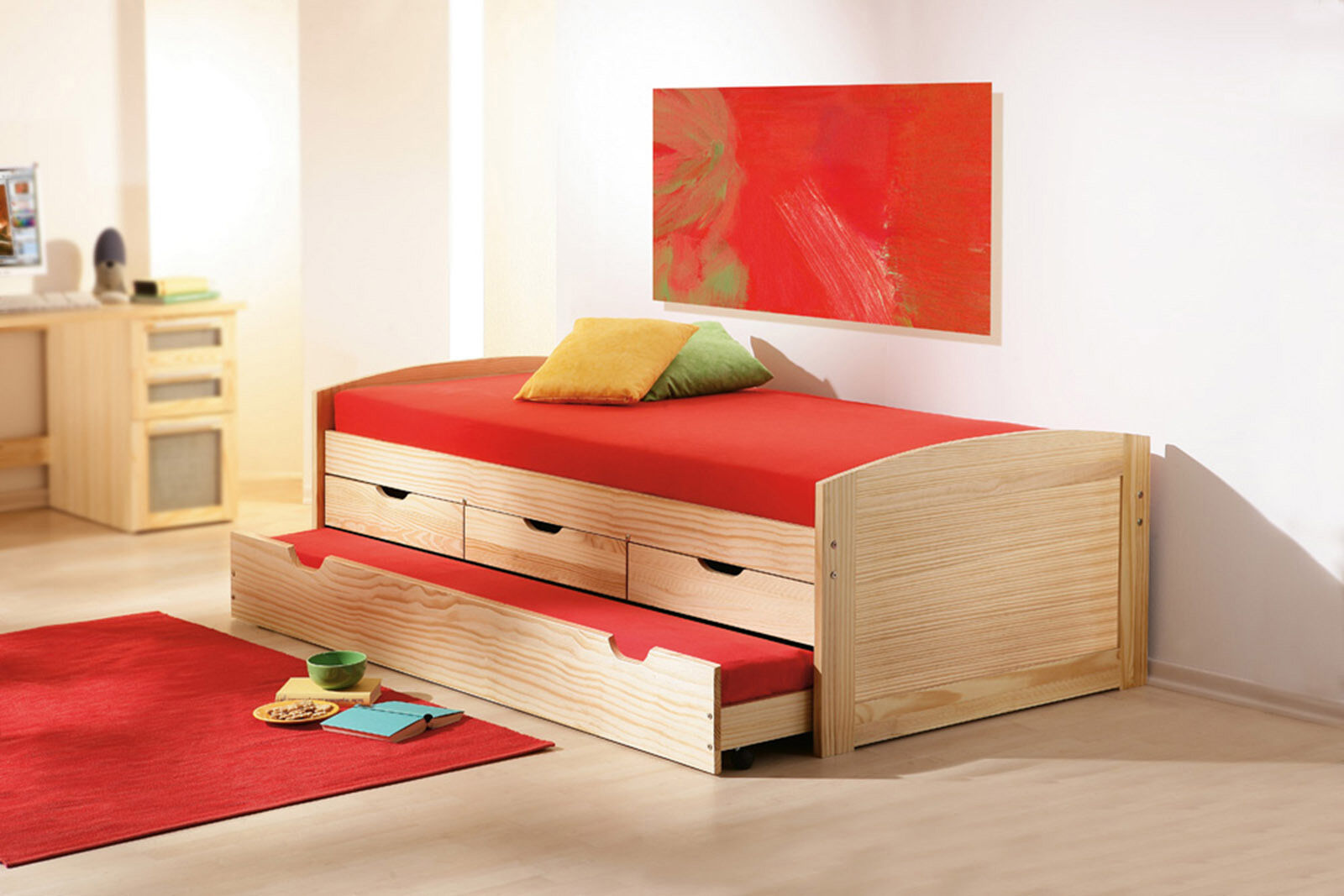 Bett 90x200 cm kinderbett funktionsbett kojenbett for Funktionsbett ikea