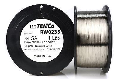Temco Pure Nickel Wire 34 Gauge 1 Lb Non Resistance Awg Ni200 Nickel 200ga