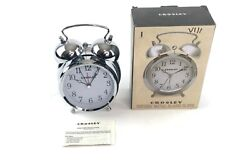 Crosley 33013 Vintage Metal Alarm Clock Classic Twin Bell Quite Second Hand