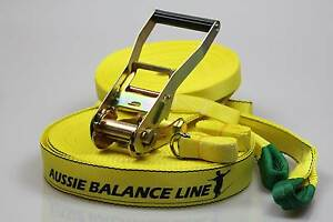 Slackline-Yellow 30m,Aussie Balance line,Australian dealer stock Springwood Blue Mountains Preview