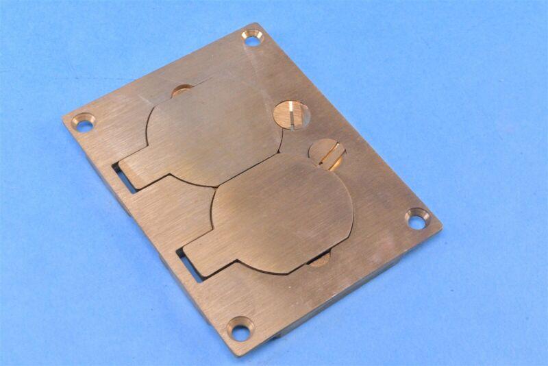 Wiremold Rectangular Legrand Brass Duplex Cover Plate 828R 3.1 inch x 4.1inch
