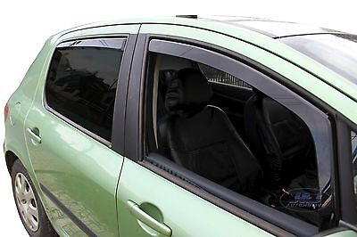 DPE26119 PEUGEOT 307 5 door 2000-2008  wind deflectors 4pc set TINTED HEKO