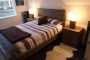 Superb Reclaimed Timber Style Queen / King Bed Frame - Brand New Hawthorn Boroondara Area Preview
