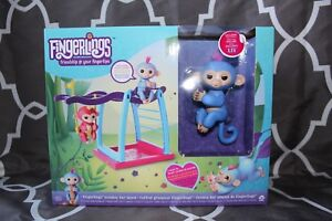 """Brand New Fingerlings Playground Playset with Blue Monkey """"Liv"""""""