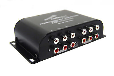 Multi-Audio Amplifier 3  RCA  Front, Rear, Subwoofer Inputs 10V Line Driver