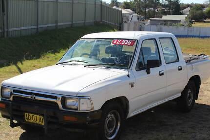 1992 Toyota Hilux Ute - 4x2 DUAL CAB R85NR5 SPEED PETROL