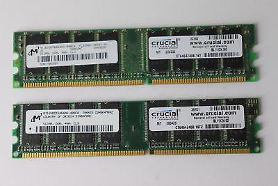OEM Apple or Windows 1GB 512mb x 2 Sticks PC 3200U DIMM 184PIN DDR MEMORY RAM
