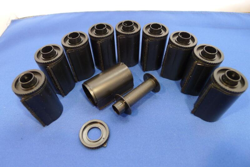 POST FREE  5 HIGH QUALITY 35MM SCREW  END PLASTIC REUSABLE BULK LOADER CASSETTE