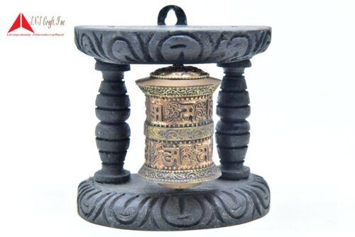 4 Inch Wall Hanging or Mani Wheel /Mantra Tibetan Copper Desk Décor Prayer Wheel