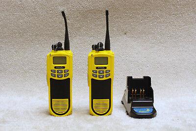Lot Of 2 Efjohnson 51fire Es Series Portable Radio 700800 Mhz Ath2425171 P25