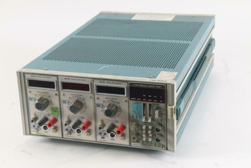 Tektronix TM504 W/3 DM 501 Digital Multi Meter, 1 DC 509 Universal Counter/Timer