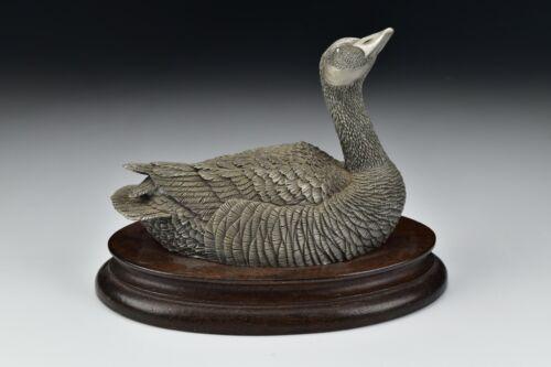 Vintage Chilmark Pewter Canada Goose 1977