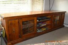 Solid timber TV entertainment stand. Taren Point Sutherland Area Preview