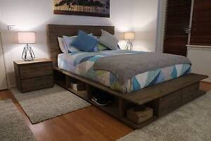 Stunning Reclaimed Timber Portsea 4pc Bed Suite - NEW IN BOX Hawthorn Boroondara Area Preview