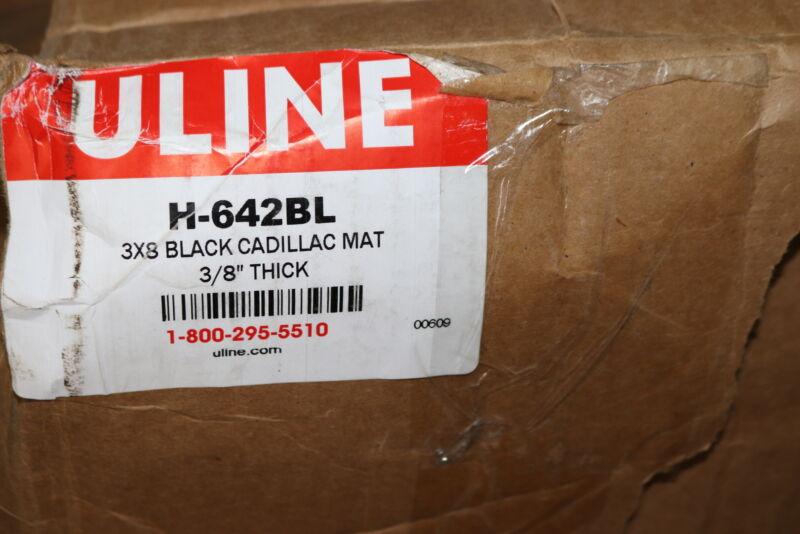 """Uline Mat Black 3/8"""" Thick x 3"""" x 8"""