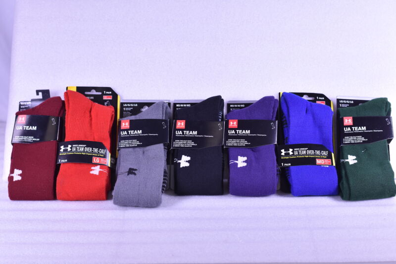 Unisex Adult Under Armour Team Over the Calf Socks - Choose Color & Size