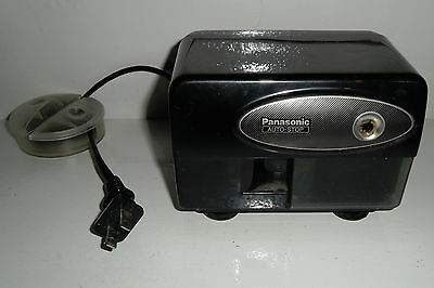 Panasonic Electric Pencil Sharpener Kp-310 With Auto-stop Black Tested Works