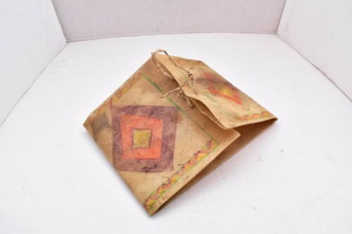 Native American Lakota Sioux Antique Painted Rawhide Parfleche Bag pouch