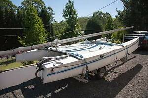 Hobie Cat 18ft with registered trailer Berowra Hornsby Area Preview