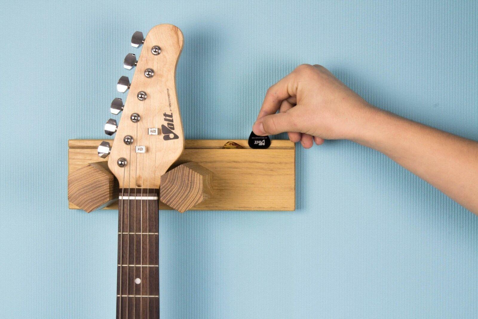 Gitarre Wand Halterung Gitarrenwandhalter Guitar Ständer Zubehör Hänger Holz