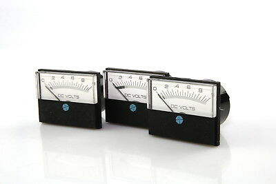 Lot Of 4 Modutec Jewel Instruments 0-1 Volt Panel Meter Dc With 3 Bezel Mount