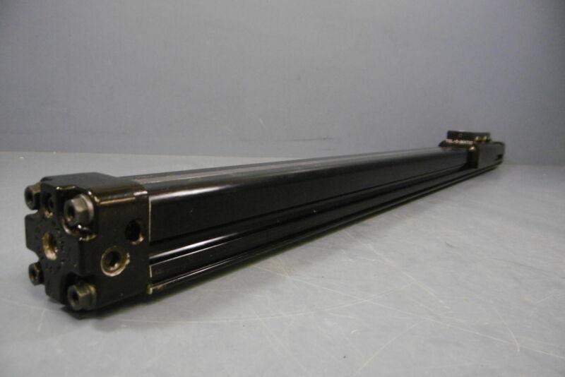 "Used Tol O Matic BC210 Linear Slide Rodless 24"" Slide Cylinder Pneumatic"