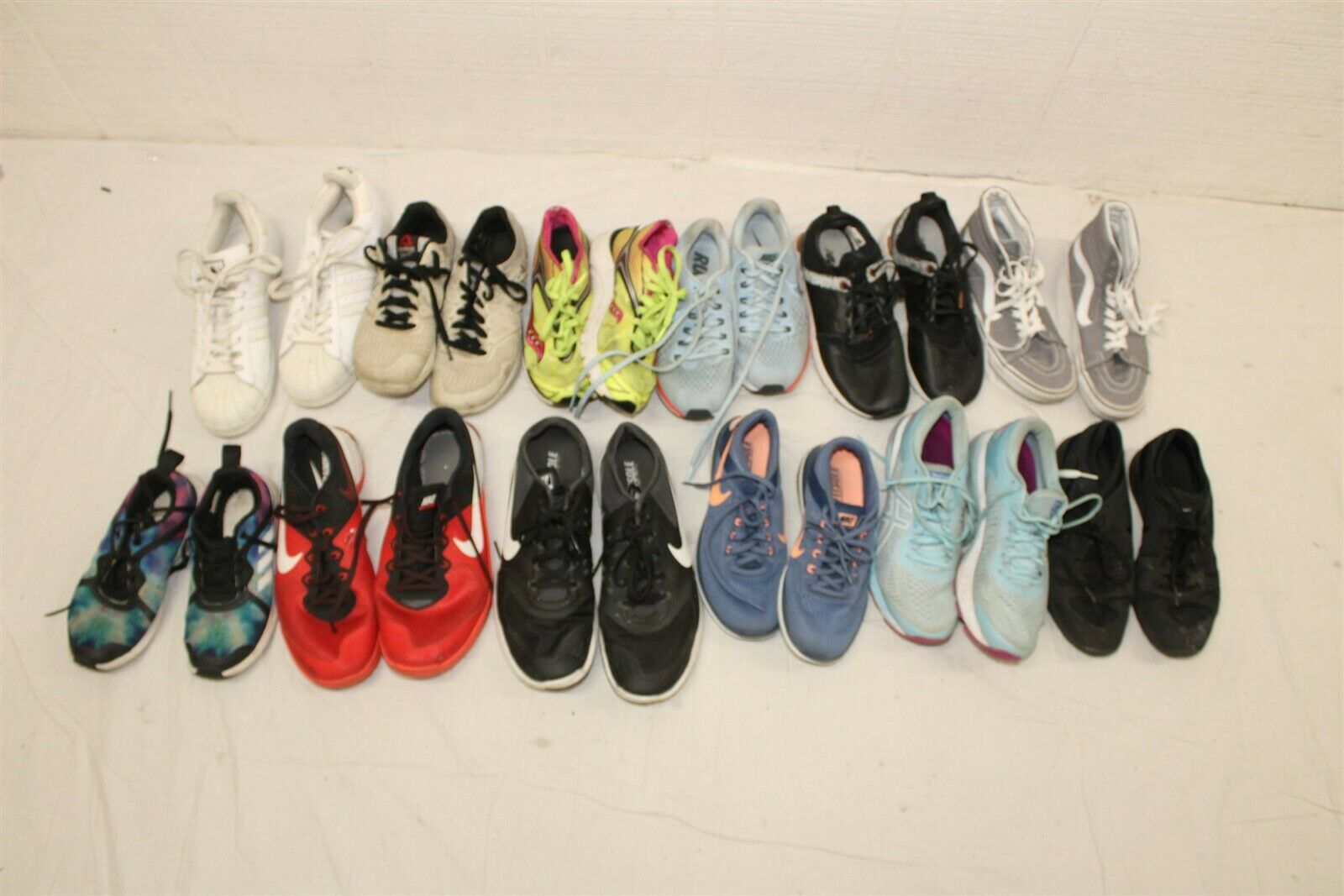 Sport Shoes Lot Wholesale Used Rehab Resale Adidas Nike Reebok Collection