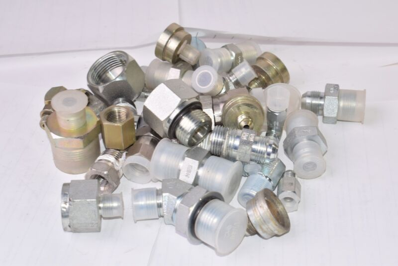 5 LB Lot of NEW & Used Brennan Connector Fittings, Mixed Lot