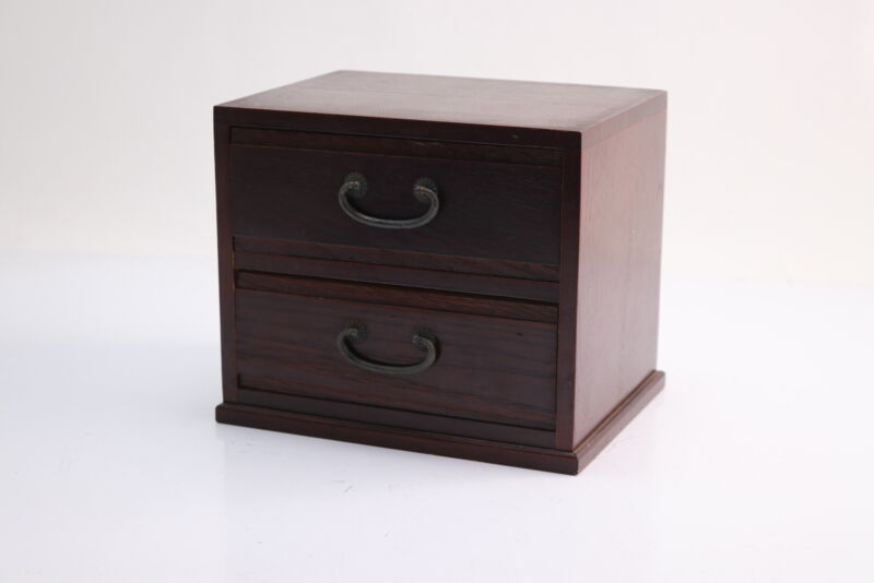 Maid In Japan Wooden Tabletop Jewelry Chest Of 3 Drawers