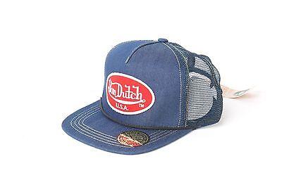 (Von Dutch OG Patch Red Denim Mesh Trucker Hat New, Authentic, Free Shipping)