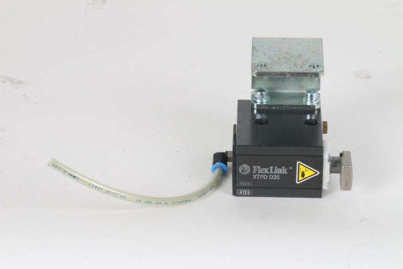 FlexLink XT XTPD D35 #4125 Pneumatic Damped Pallet Stopper 5053783 Rail Bracket