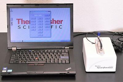 Thermo Nanodrop Nd-1000 Uvvis Spectrophotometer Laptopsoftwarewarranty