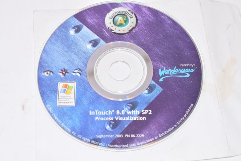 Invensys Wonderware InTouch 8.0 with SP2 Process Visualization CD