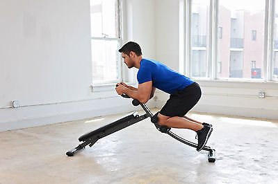 3 in1 CORE TRAINING-ADJUSTABLE-Ab Sit Up Crunch Board Slant Decline Weight Bench for sale  Springfield