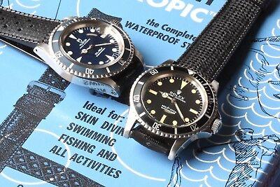 Rolex Submariner 5513 original 1960s/70s vintage divers band 20mm Tropic 28 sold