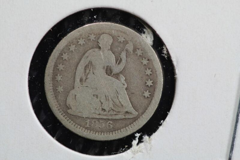 1856 Seated Liberty Half Dime 00AW
