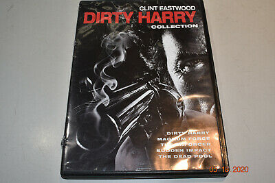 5 DVD Film Collection DIRTY HARRY Dead Pool Enforcer CLINT EASTWOOD Magnum MOVIE