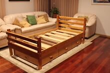 Solid pine wooden single bed (bunkers brand) with 3 drawers Templestowe Lower Manningham Area Preview