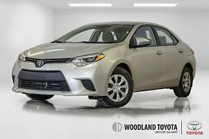 2016 Toyota Corolla CE / Bluetooth / Air climatise / 47 171 Kms.