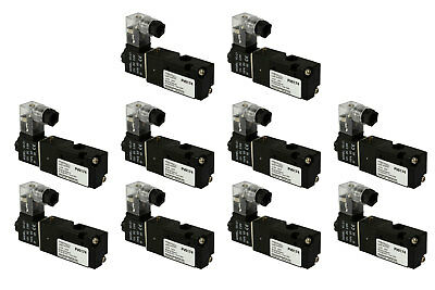 10x 12v Dc Solenoid Air Pneumatic Control Valve 3 Port 3 Way 2 Position 18 Npt
