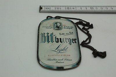 Zapfhahnschild Bitburger Light KLASSISCH HERB 269