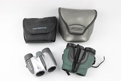 2 x Compact BINOCULARS Inc. Nikon Sprint III 10x21 & Olympus DPC I 8x21 WORKING