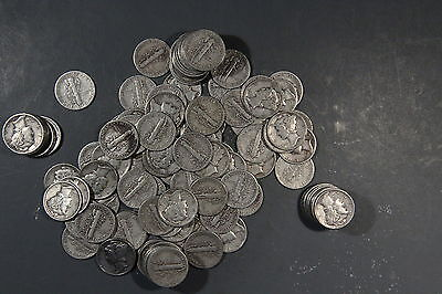 3 Face Value Of Mercury Dimes 90  Silver  Lot Of 30 Coins