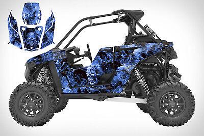 Polaris RS1 graphics RZR wrap kit 24 mil thick racing vinyl #9500 Blue Zombie