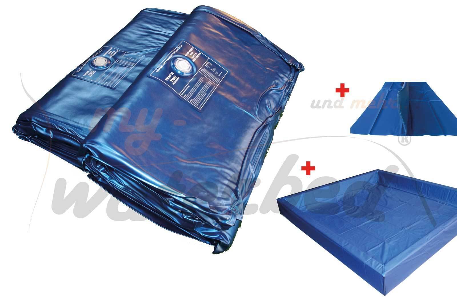 Wasserbett Matratze Wasserkern Wassermatratze Dual Softside - komplettes Set