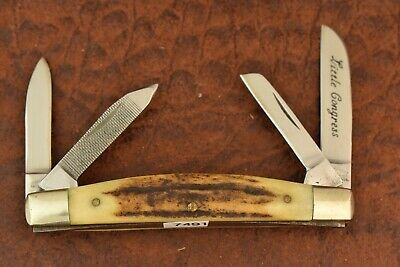 PARKER BROTHERS JAPAN STAG LONG PULL LITTLE CONGRESS KNIFE NICE (7491)
