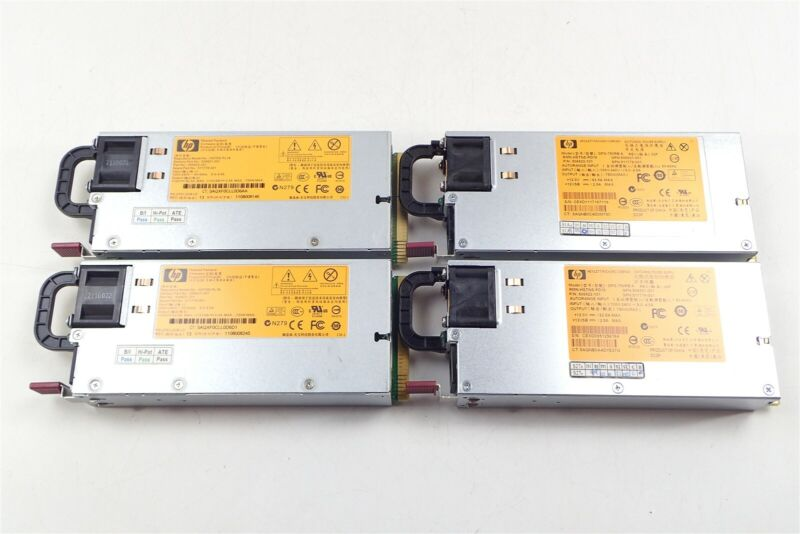 Lot of 4 HP DPS-750RB A 750W Power Supplies 506822-001 511778-001 HSTNS-PD18
