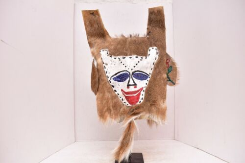 Navajo Yei Be Chai House Spirit Mask Painted Leather hide Native American Indian