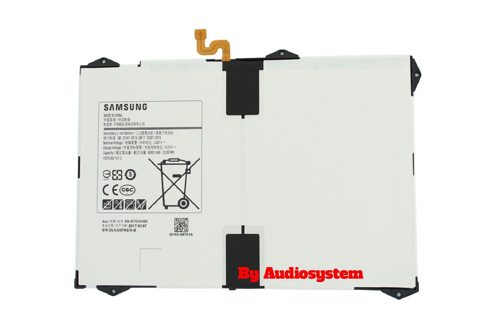 BATTERIA ORIGINALE Samsung Galaxy Tab S3 9.7 SM-T820 SM-T825 6000mAH EB-BT825ABE