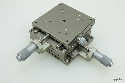 Xy Linear Axis Precision Micrometer Positioner 7.5mm 70x70x36 Sta-i-1285f31